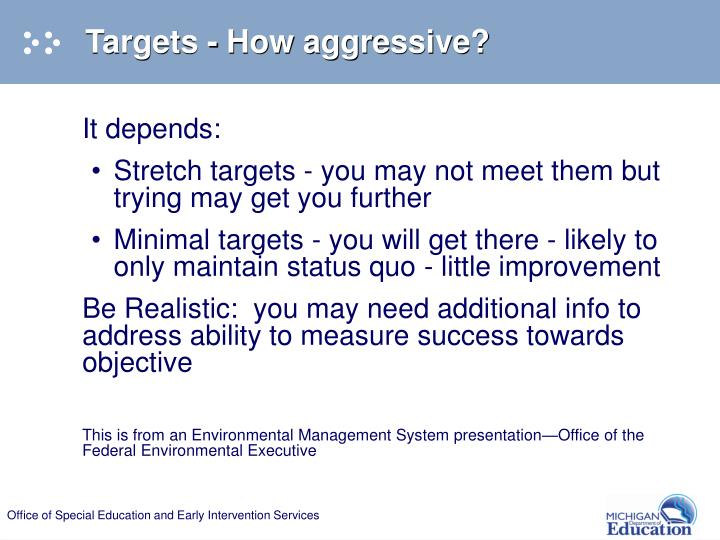 Targets - How aggressive?