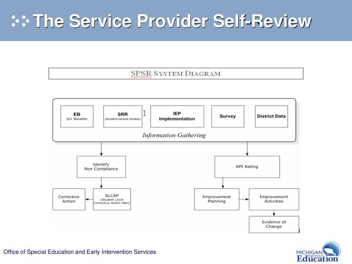 The Service Provider Self-Review