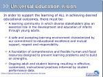 universal education vision2