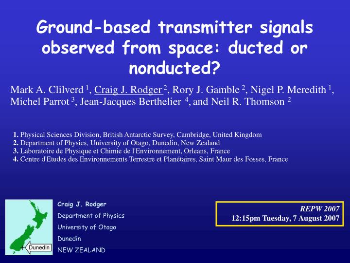 Ground-based transmitter signals observed from space: ducted or nonducted?
