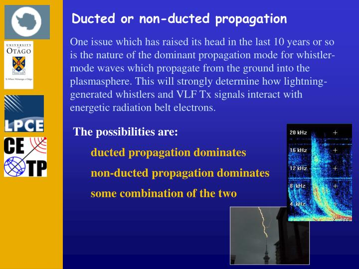 Ducted or non-ducted propagation