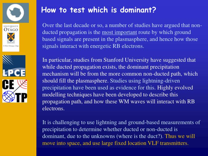How to test which is dominant?