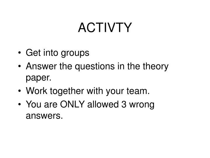 ACTIVTY