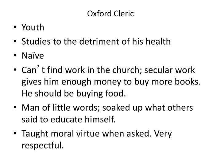 Oxford Cleric