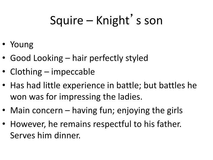Squire – Knight