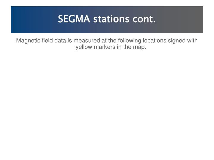 SEGMA stations cont.