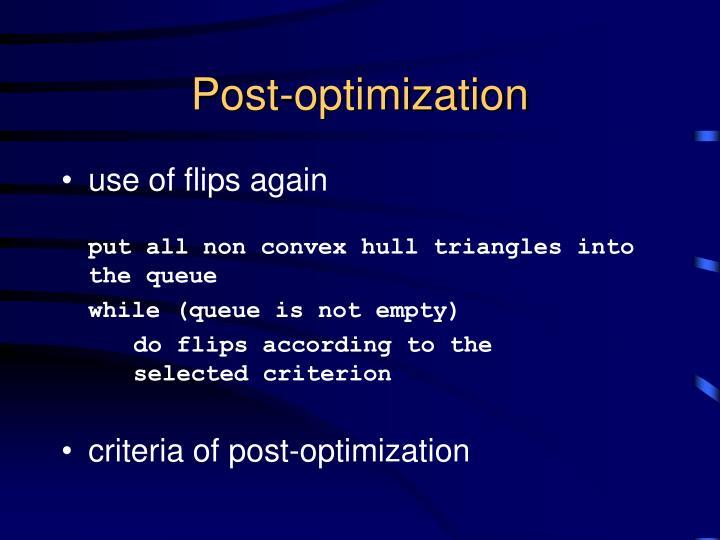 Post-optimization