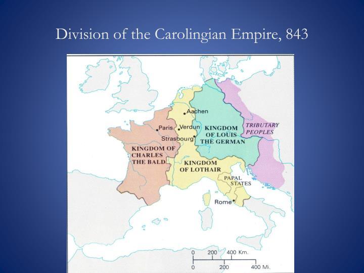 Division of the Carolingian Empire, 843