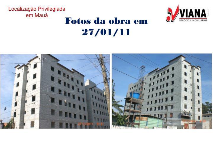 Fotos da obra em 27/01/11