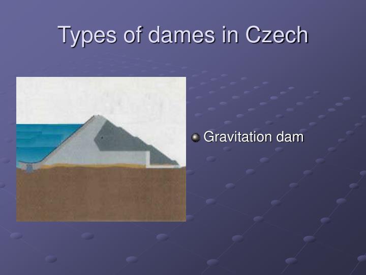 Types of dames in Czech