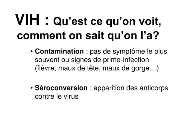 VIH :