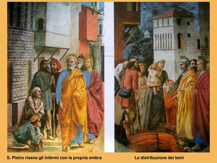 S. Pietro risana gli infermi con la propria ombra