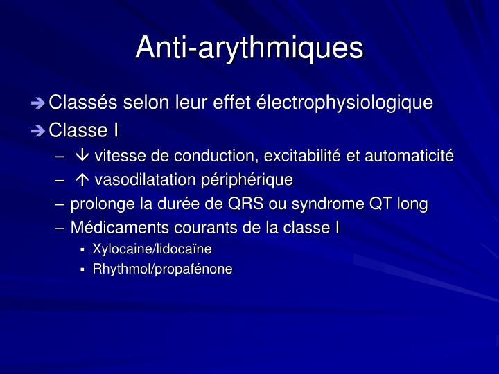 Anti-arythmiques