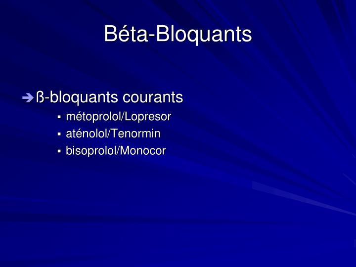 Béta-Bloquants