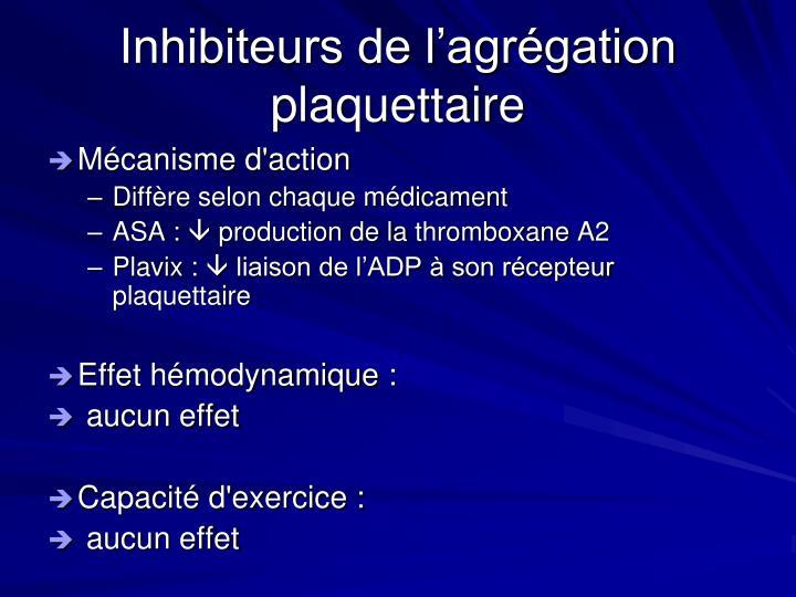 Inhibiteurs de l'agrégation plaquettaire