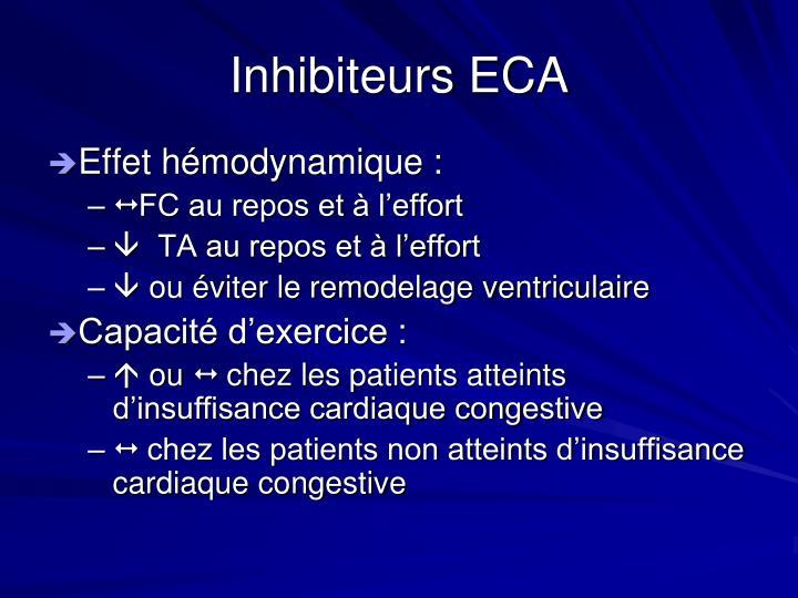 Inhibiteurs ECA