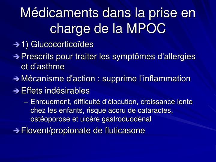 Médicaments dans la prise en charge de la MPOC