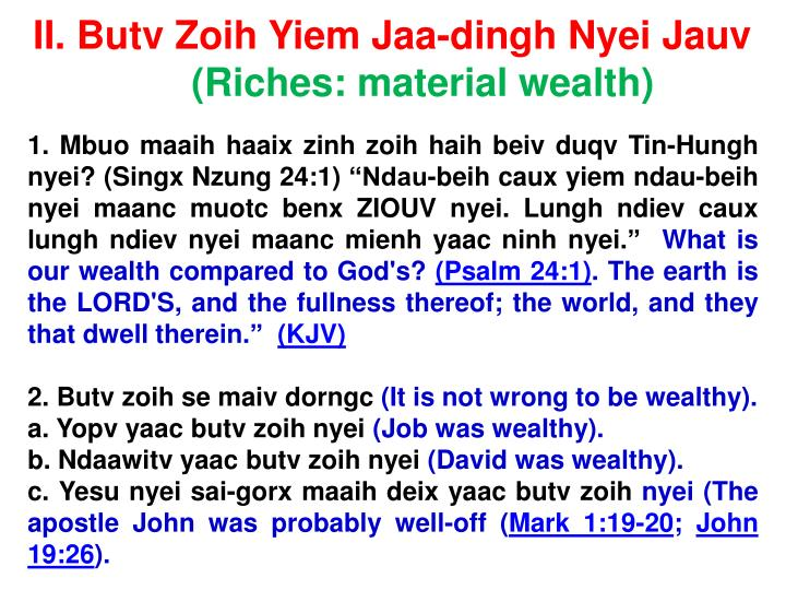 II. Butv Zoih Yiem Jaa-dingh Nyei Jauv