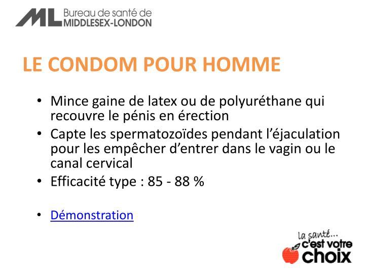 LE CONDOM POUR HOMME