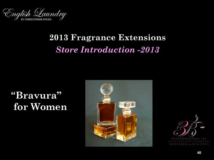2013 Fragrance Extensions