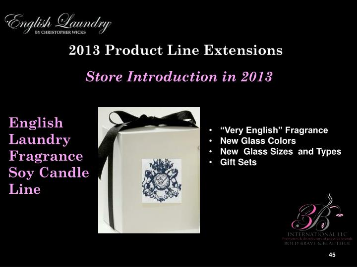 2013 Product Line Extensions