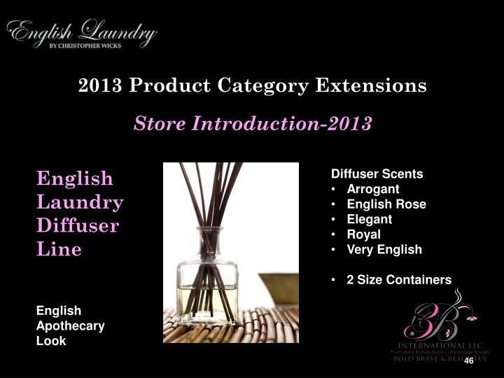 2013 Product Category Extensions
