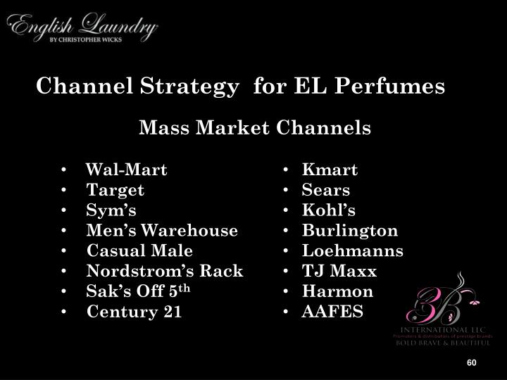 Channel Strategy  for EL Perfumes