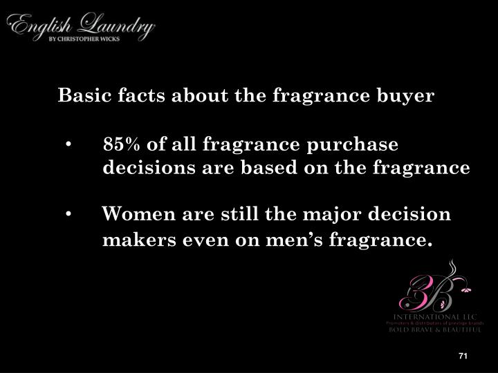 Basic facts about the fragrance buyer