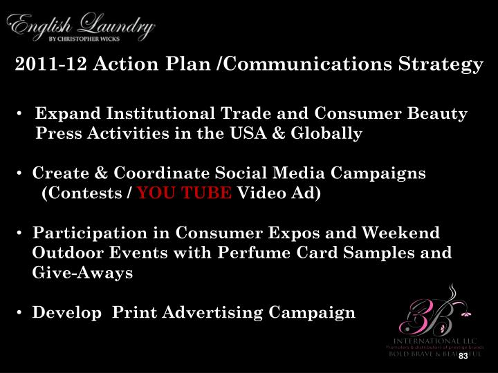 2011-12 Action Plan /Communications Strategy