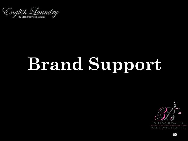 Brand Support