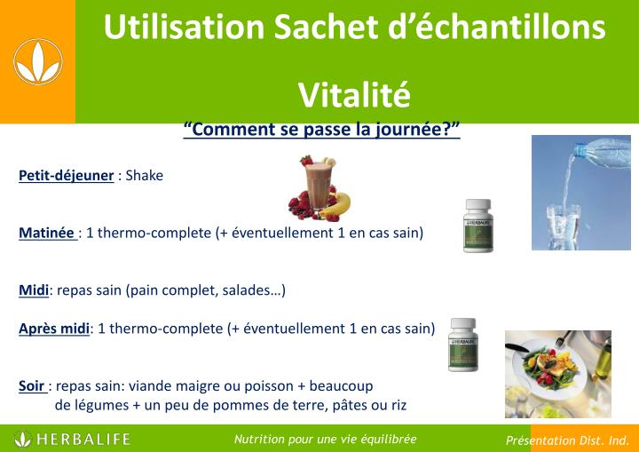 Utilisation Sachet d'échantillons