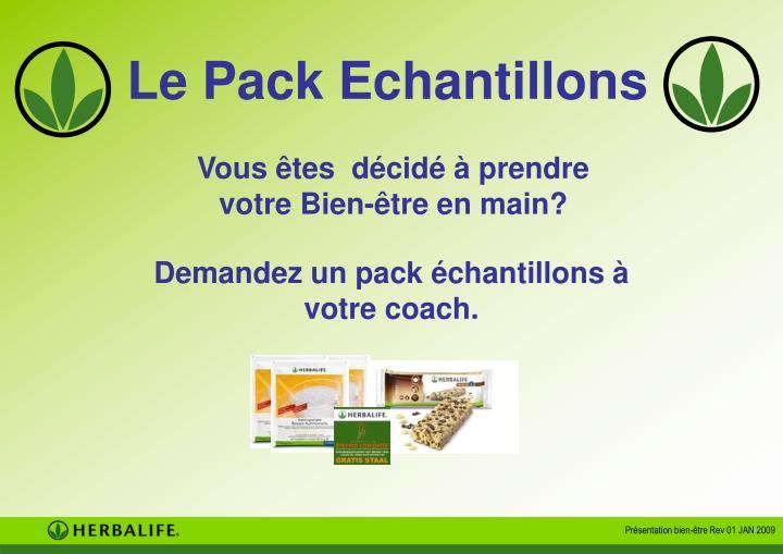Le Pack Echantillons