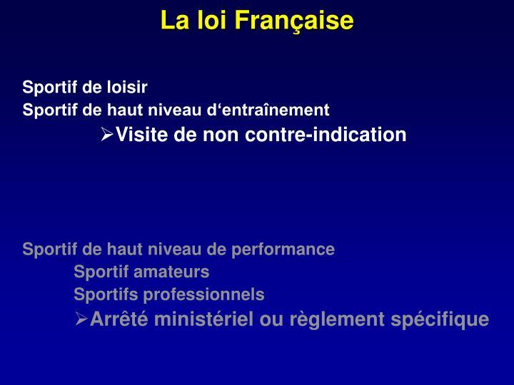 La loi Française