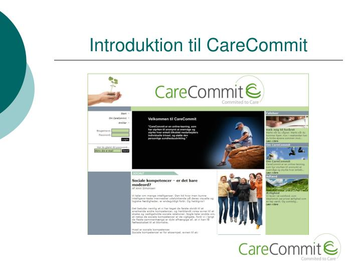 Introduktion til carecommit