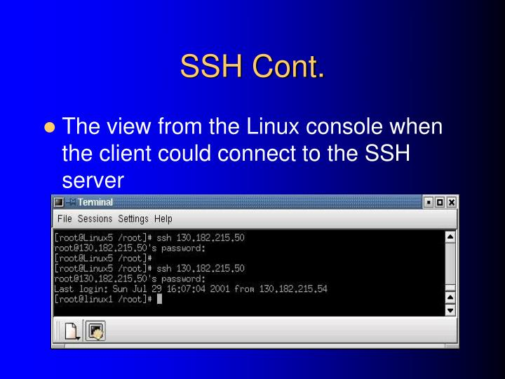 SSH Cont.
