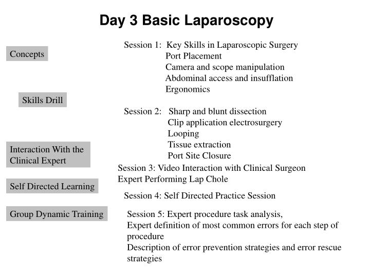 Day 3 Basic Laparoscopy