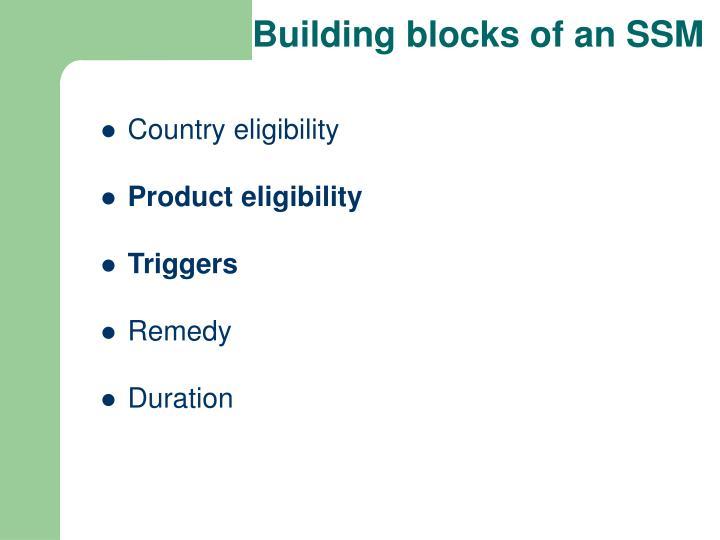 Building blocks of an SSM