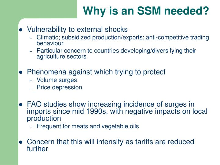 Why is an SSM needed?
