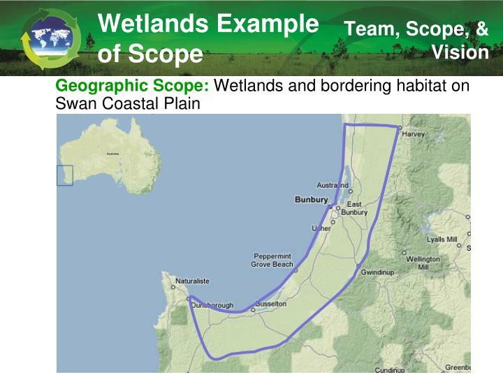 Wetlands Example of Scope