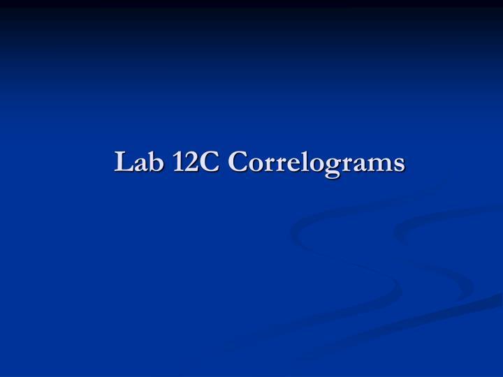 Lab 12C Correlograms