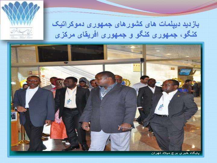 بازدید دیپلمات های کشورهای جمهوری دموکراتیک کنگو، جمهوری کنگو و جمهوری افریقای مرکزی