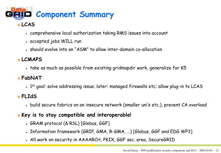 Component Summary