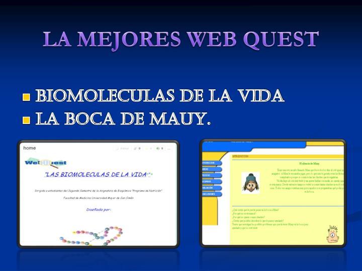 LA MEJORES WEB QUEST