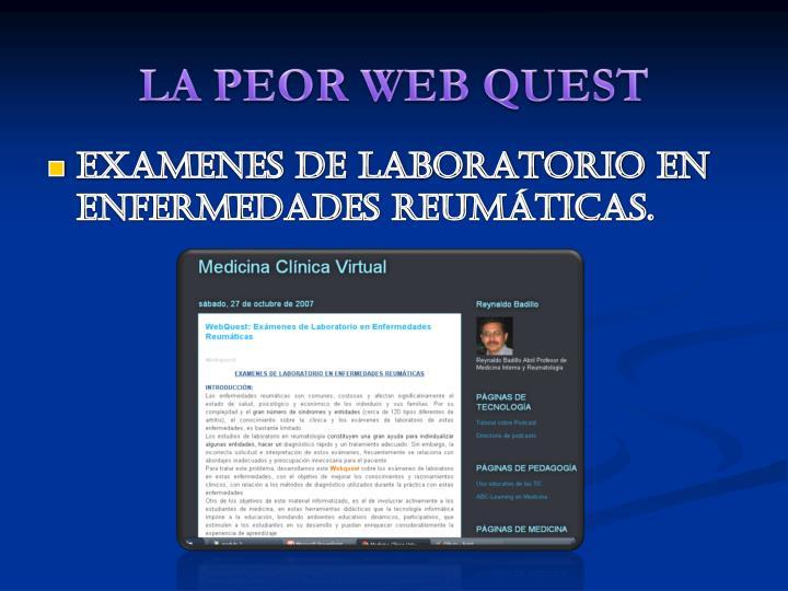 LA PEOR WEB QUEST