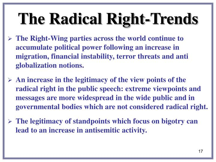 The Right-Wing parties across the world continue to accumulate political power following an increase in migration, financial instability, terror threats and anti globalization notions.