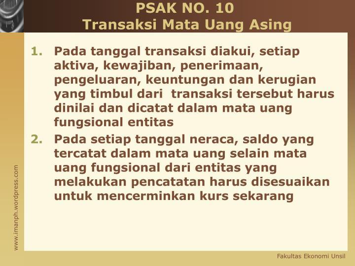 PSAK NO. 10