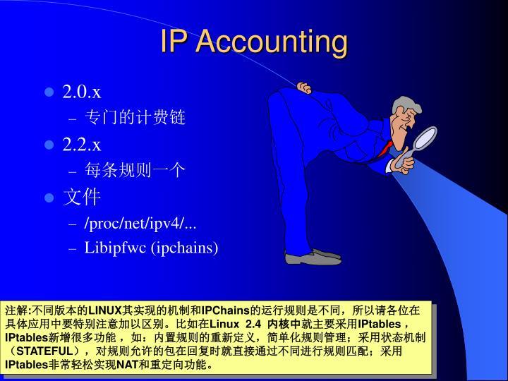 IP Accounting
