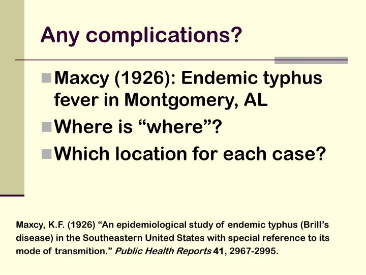 Any complications?