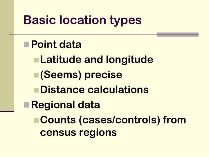 Basic location types