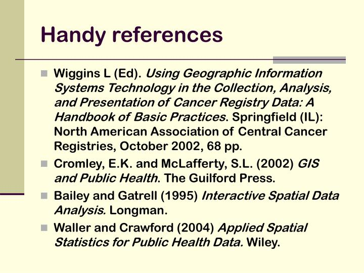 Handy references